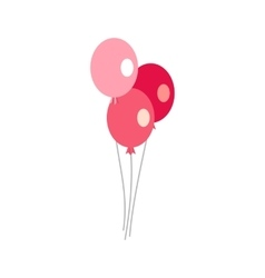 Three balloons icon flat style vector image