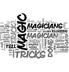 A magician s oath text word cloud concept vector