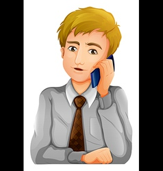 A man using his cellphone vector image