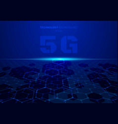 Abstract 5g fururistic concept blue technology vector