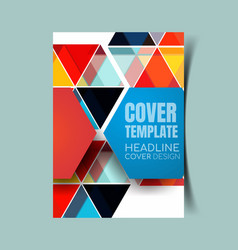 abstract report cover 5 vector image