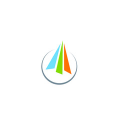 arrow colored business logo vector image