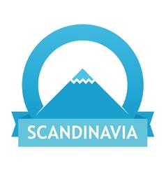 Badge with Scandinavian Landscape vector image