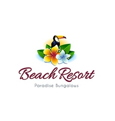 beach resort logo vector image