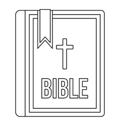 Bible icon in outline style vector