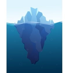 big iceberg in sea flat vector image