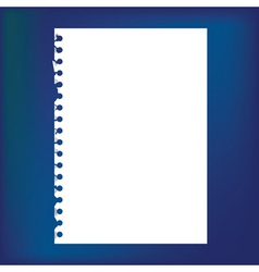 Blank notepad paper vector image
