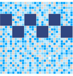blue and beige ceramic tile mosaic in swimming vector image