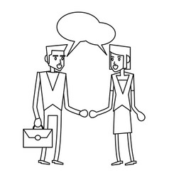 business teamwork executive in black and white vector image