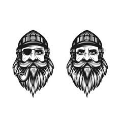 captain logo or sailor man vector image