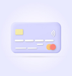 cartoon style credit card 3d concept vector image