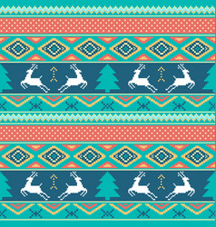 christmas and happy new year pattern seamless vector image