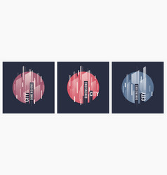 City dimensions t-shirt abstract geometric vector