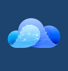 Cloud computing sign vector