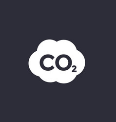 Co2 carbon dioxide emissions icon vector