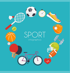 Concept of sport infographics icons for web vector