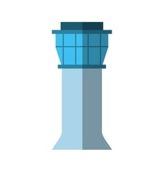 control tower airport icon vector image