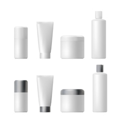 Cosmetic product Plastic 3d bottle Bottle vector image