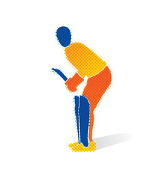 cricket player ready for hitting shoot vector image