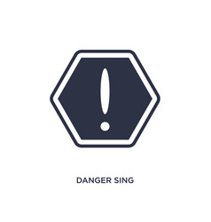 Danger sing icon on white background simple vector