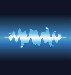 Digital music waves vector