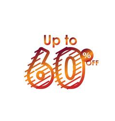 Discount up to 60 off label sale line gradient vector