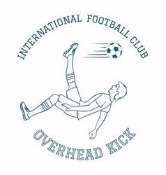 Emblem of soccer club vector