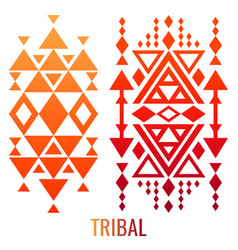 Ethnic or tribal ornament elements vector