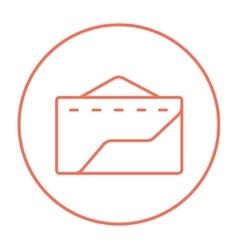 Factory line icon vector