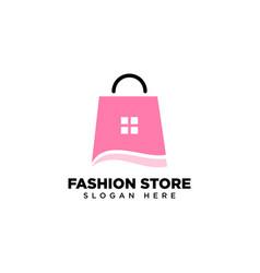 Fashion store logo design template vector