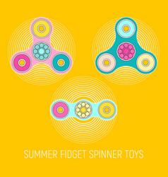 fidget spinner toys vector image