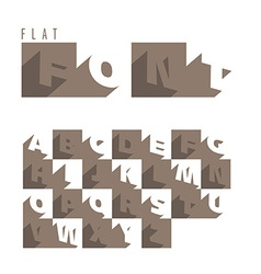 Flat alphabet icons vector