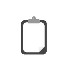 flat design style of clipboard with paper vector image