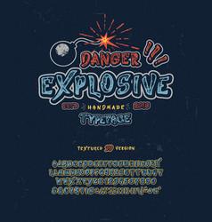 Font danger explosive vector
