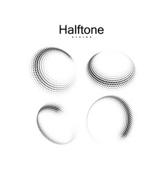 Halftone 3d circular shapes collection vector