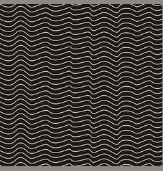 hand drawn indigo irregular wave line texture vector image