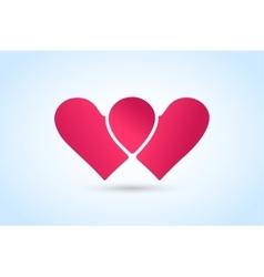 Heart icons logo vector image