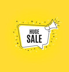 Huge sale special offer price sign vector