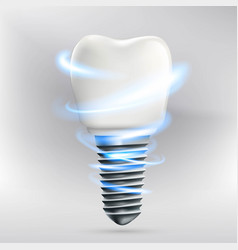 icon human dental implant vector image