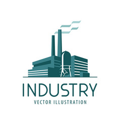 Industry logo or icon factory industrial vector
