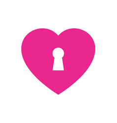 lock heart love logo icon vector image
