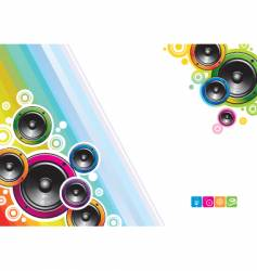 loudspeakers background vector image