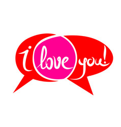 love chat sign vector image