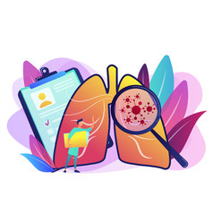 Lung cancer concept vector