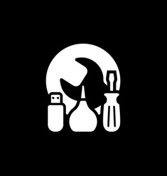 Maintanance kit icon flat design vector