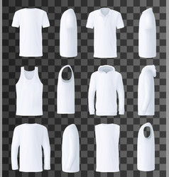 male top clothes template and mockup vector image