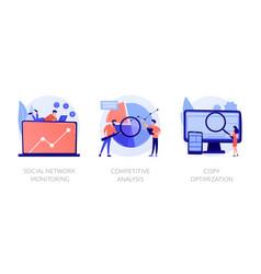Marketing analysis concept metaphors vector