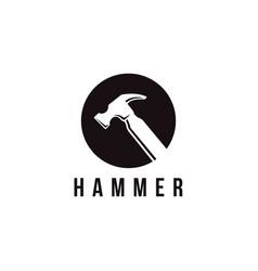 minimalist hammer logo template vector image