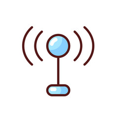 mobile networks app rgb color icon vector image