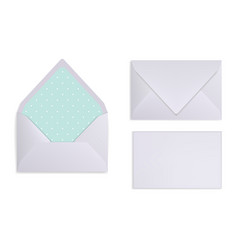 Mock-up light grey white or silver envelope vector